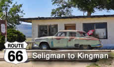 Route 66 from Seligman through Hackberry to Kingman, Arizona