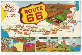 Map of Route 66, The Mother Road of America