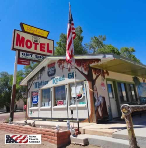 The Aztec Motel and Gift Shop on Historic Route 66 in Arizona