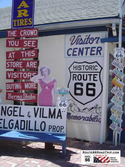 Angel & Vilma Delgadillo's Route 66 Gift Shop & Visitor's Center in Seligman, Arizona