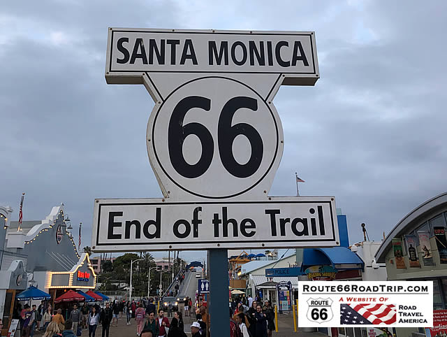 The End of the Trail ... Santa Monica, California