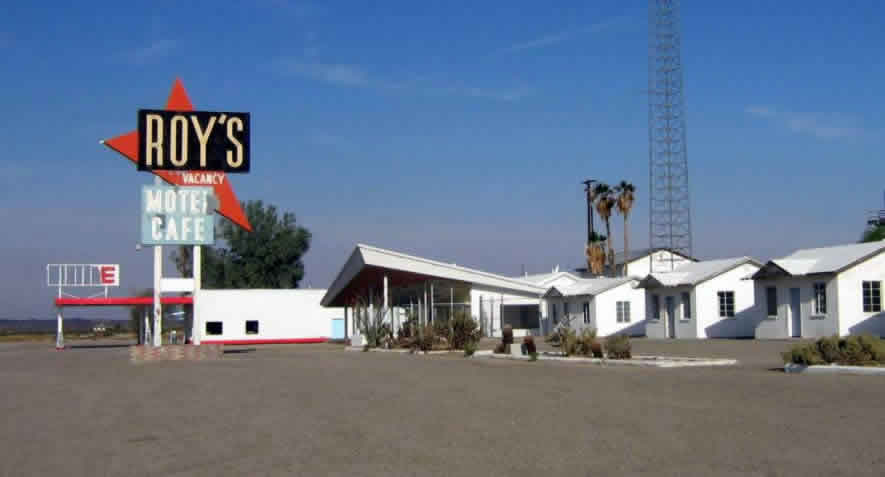 Roy's Motel and Cafe in Amboy, California