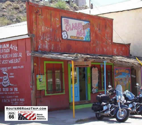 Motorcycles at the Classy Ass, Oatman, Arizona, on Route 66