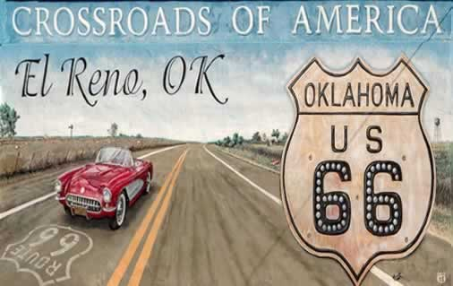 Touring Route 66 in the comfort of your own classic Chevrolet Corvette