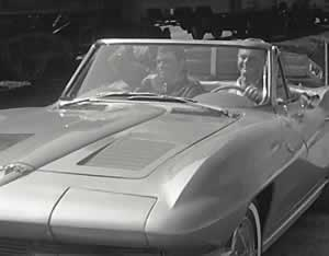 "The Chevrolet Corvette on the TV show ""Route 66"""