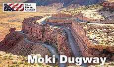 The Moki Dugway and its dramatic switchbacks, in southern Utah
